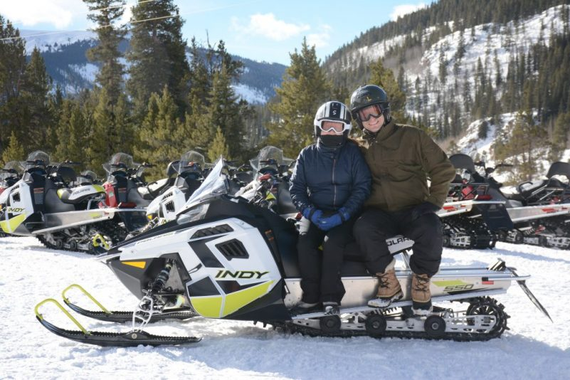 Snowmobiling in Leadville, Colorado It's Fun. HeidiTown.com Photo by White Mountain Snowmobile Tours 3