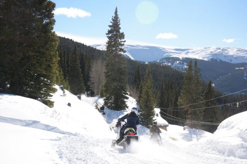 Snowmobiling in Leadville, Colorado It's Fun. HeidiTown.com Photo by White Mountain Snowmobile Tours 4