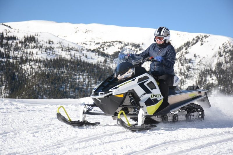 Snowmobiling in Leadville, Colorado It's Fun. HeidiTown.com Photo by White Mountain Snowmobile Tours