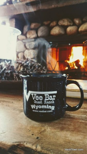 Vee Bar Guest Ranch, coffee mug vertical. Photo by Heidi Kerr-Schlaefer