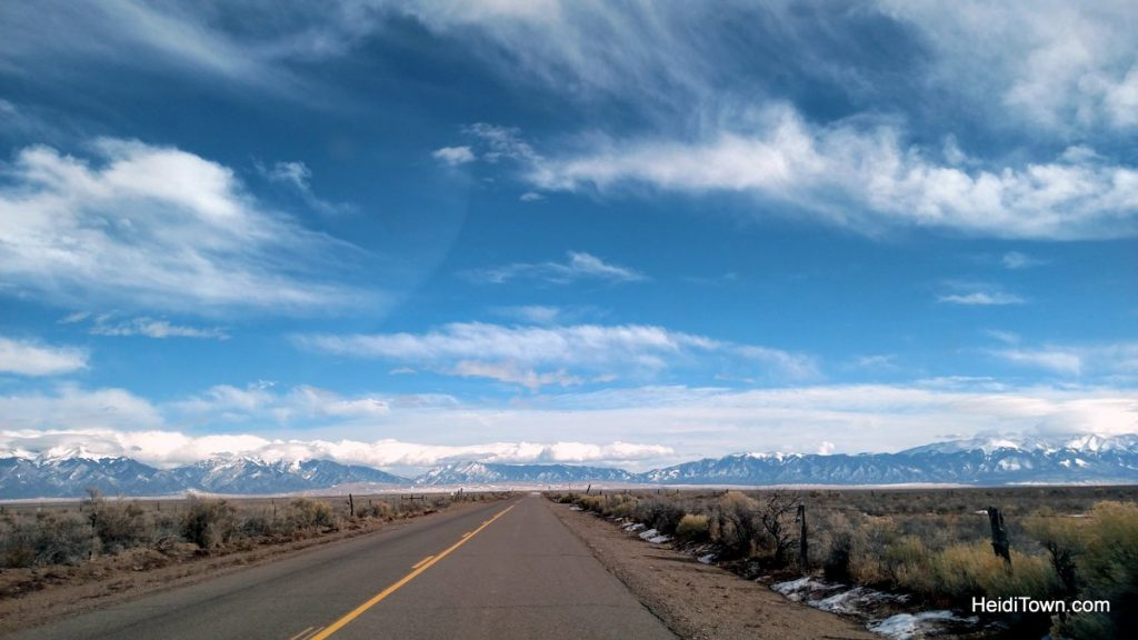R is for Road Trip. Sangre Cristos in the San Luis Valley. HeidiTown.com